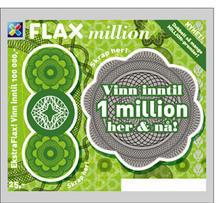 Million grønn uskrapet Flaxlodd