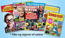Fem kryssordblader fra 2014